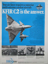 10/1976 PUB IAI ISRAEL AIRCRAFT KFIR C2 FIGHTER ORIGINAL AD