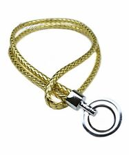 Multi Color Weave PU Leather Lanyard with Double Ring Keychain key fob