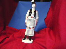 Hollohaza Hungary Man in Top Hat Figurine 1831 Handpainted Folk Art Porcelain