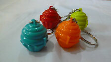 Tupperware Mini Cupcake Keeper Keychain Set of 4