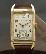 "ALL ORIG! 1948 Vintage BULOVA USA ""President"" 21J 7AK MIDSIZE SLIM DRESS WATCH"