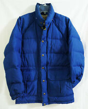 Vintage REI CO-OP Royal Blue Goose Down Puffer Parka size Small (No Hood)