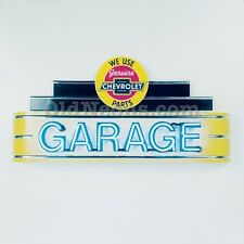 CHEVROLET GARAGE GAS OIL SERVICE NEON SIGN - MADE IN USA! FREE SHIPPING!