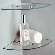 BATHROOM 2 TIER CORNER GLASS SHELVES!!! FAST DELIVERY!!!