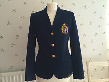 new ralph lauren monogram blazer size uk 6 8 women 39 s coat jacket us. Black Bedroom Furniture Sets. Home Design Ideas