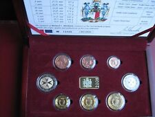 Malta 2008 8 Coin BUNC Set: 1 Cent - 2 Euro cased with COA official issue