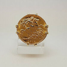 Vintage 22ct Gold 1913 George Half Sovereign in 9ct Gold Ring Mount.