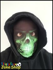 Grim Reaper Green Skeleton Full Head Mask Realistic Printed Lycra for Halloween