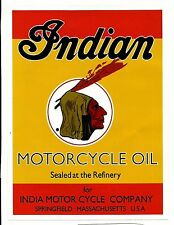 "INDIAN MOTORCYCLE COMPANY OIL CAN Sticker Decal 8"" X 6"" SCOUT CHIEF"