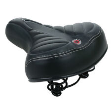Bike Bicycle Wide Big Bum Soft Extra Comfort Sprung Deluxe Gel Saddle Seat