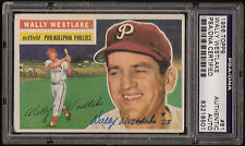 1956 Topps #81 Wally Westlake Signed AUTO Phillies PSA/DNA Certified Authentic