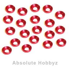AHZ 3mm Countersunk / Concave Washers (Red) (20pcs) - AHZ-10342
