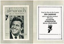 Publicité Advertising 1968 (2 pages) Almanach télé 7 Jours