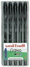 UNI-BALL SIGNO GEL PENS  UM-120 - Black 5 Pack Wallet