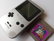 Defective Nintendo Gameboy Light Silver color console MGB-101 and game/tested-L5