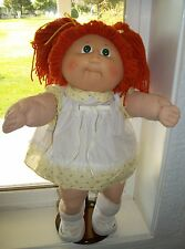 CABBAGE PATCH KIDS HM3 1984 GIRL RED HAIR GRN EYES VTG DRESS PANTIE SOX SHOES