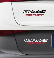 For AUDI - AUDI SPORT - VINYL CAR DECAL STICKER ADHESIVE - A3 A4 A5 - 220 x 50mm