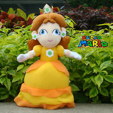 "Super Mario Bros Plush Toy Princess Daisy 13"" Nintendo Game Stuffed Animal Doll"