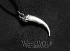 Silver Viking Wolf Claw Pendant -- Norse/Direwolf/Dragon/Talon/Fang/Tooth/Canine