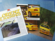 AUTO993-RITAGLIO/CLIPPING/NEWS-1993-BMW LORENZ 318is COUPE - 3 fogli