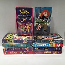 Children's Cartoons Lot Of 10 Different VHS Cassette Tapes Muppets Batman