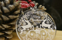 Personalised Christmas Tree Decoration Gift Bauble Name Engraved Free