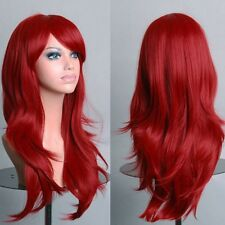 Medium Full Head Long Bangs Cosplay Wigs 100% Top Kanekalon Hair Wig US Ship 0G