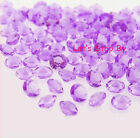 2000 Lavender Acrylic Diamond Confetti 1/3ct for Wedding Party Decoration Table