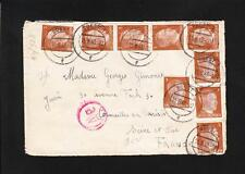 Nazi Germany Hitler Franking 9x4p Frenchman Soest 1943 Censor to France  Z52