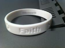 2 White Lung Cancer Awareness Silicone ADULT Bracelet Wristbands