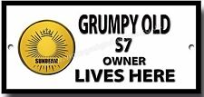 GRUMPY OLD SUNBEAM S7 OWNER LIVES HERE METAL SIGN.BRITISH MOTORCYCLES.
