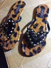 IRON FIST Lovecat Leopard Studs Flat Shoes UK 4 EUR 37 Reduced
