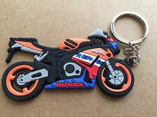 New Honda Repsol CBR Motorcycle keychain Rubber. As Picture Factory Honda Team