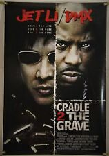 CRADLE 2 THE GRAVE DS ROLLED ORIG 1SH MOVIE POSTER JET LI DMX ACTION (2003)