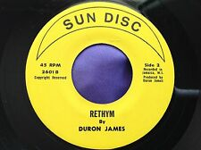 Rare Island Soul 45 : Duron James ~ Rethym ~ Baby's Coming Back ~ Sun Disc 2601