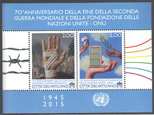 Vatican 2015 70 Anniv End World War II & Founding of the United Nations MNH SS