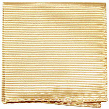 New men's polyester woven striped ivory hankie pocket square formal wedding