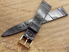 Vintage New Old Stock Unused wittnauer black watch band with gold plated buckle