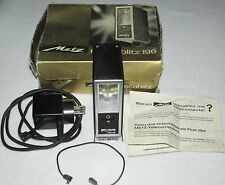 Vintage Metz Mecablitz 196 L25C Telecomputer Flash ~ With Box & Cords ~ AS IS