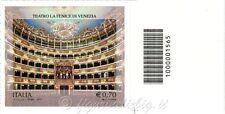 2013 francobollo Teatro La Fenice - Venezia VARIETA NON FUSTELLATO SX BARRE 1565