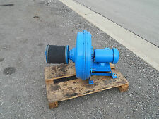 North American Industrial Blower 1-337 w/ 8MGN air-maze Filter 1hp 3450RPM Motor