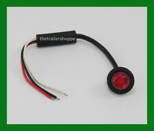 """Maxxima 3/4"""" Side Marker Clearance Stop Turn Tail Brake light LED Red Lens"""