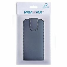 Membrane Black Leather Flip Case for LG Optimus L5 II (E460) Phone Guard