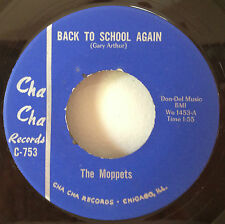 Moppets 1966 Back To School Again Cha Cha# C-753 Rare Chicago All-Girl Garage NM