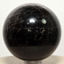 "2"" Black Smoky Quartz Sphere Polished Natural Morion Rainbow Crystal Ball China"