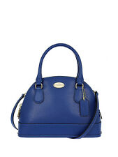 NWT Coach Crossgrain Mini Cora Domed Satchel Handbag in Denim F 34090