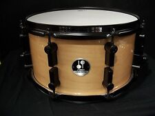 "Sonor drums 7x 13"" maple shell snare drum Gloss Natural w/ Black hardware New"
