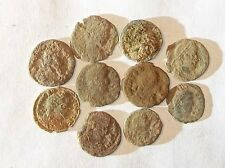 10 ANCIENT ROMAN COINS AE3 - Uncleaned and As Found! - Unique Lot 01903