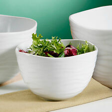 Large White Porcelain Fruit Salad Food Server Serving Soup Breakfast Dish Bowl