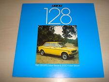 FIAT 128 1100 2 PORTE SALOON & 1100C 4 GB OPUSCOLO VENDITE - MARZO 1977